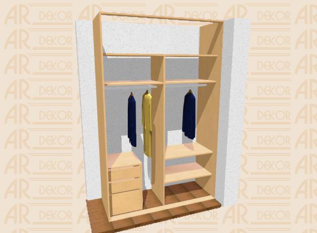 Návrh vestavěné skříně S-160 C