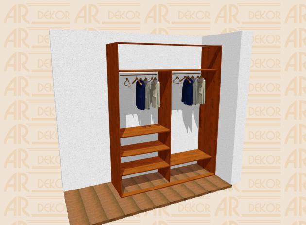 Návrh vestavěné skříně S-200 A