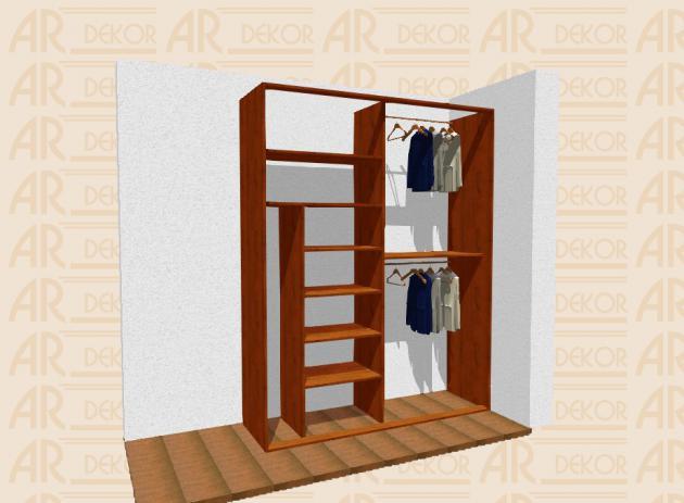 Návrh vestavěné skříně S-200 B