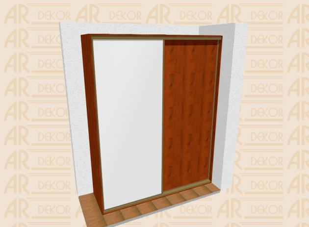 Návrh vestavěné skříně S-200