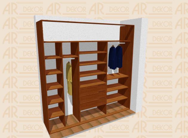 Návrh vestavěné skříně S-250 B