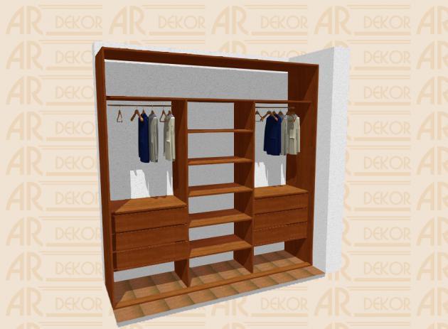 Návrh vestavěné skříně S-250 C