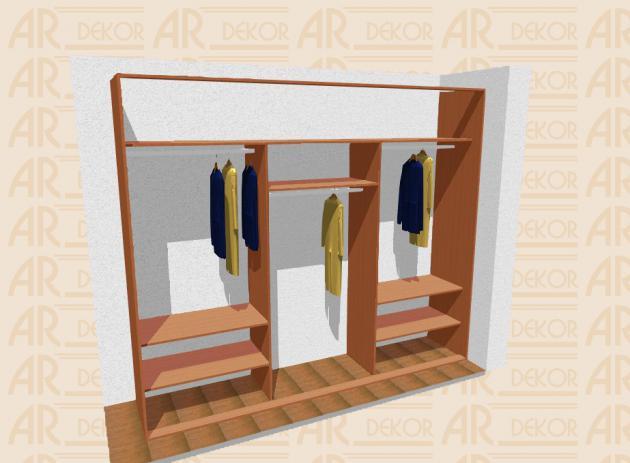 Návrh vestavěné skříně S-300 A