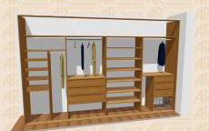 Návrh vestavěné skříně S-400 C