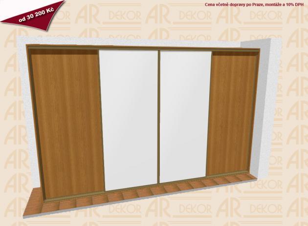 Návrh vestavěné skříně S-400